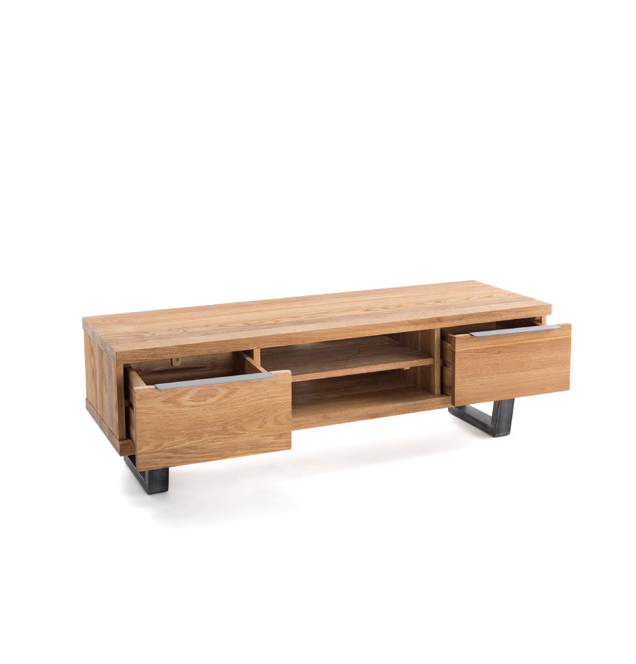 Calia Entertainment Unit - Oak & Iron