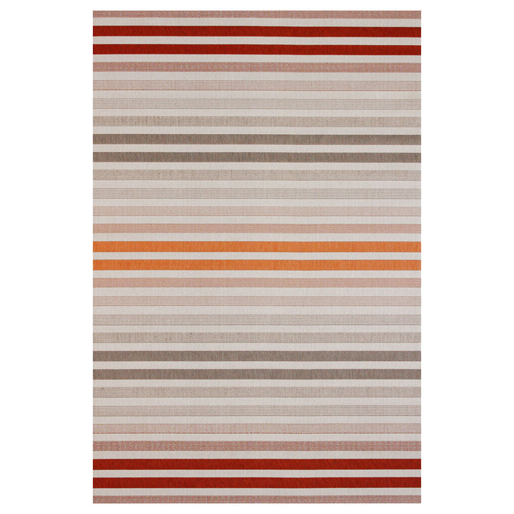 Tolaga bay - red stripe outdoor rug