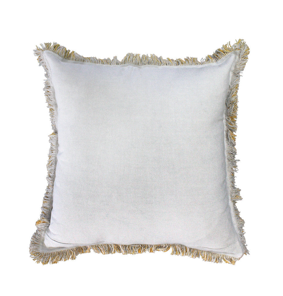 Cushion - Monterey - Yellow/Light Grey