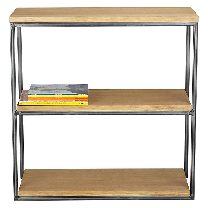 Calia Low Bookcase - Oak