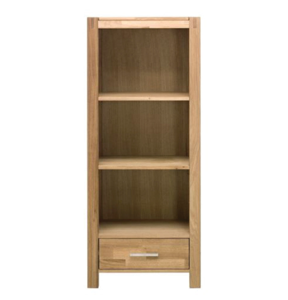 Modena Oak Media Tower w/ Drawer