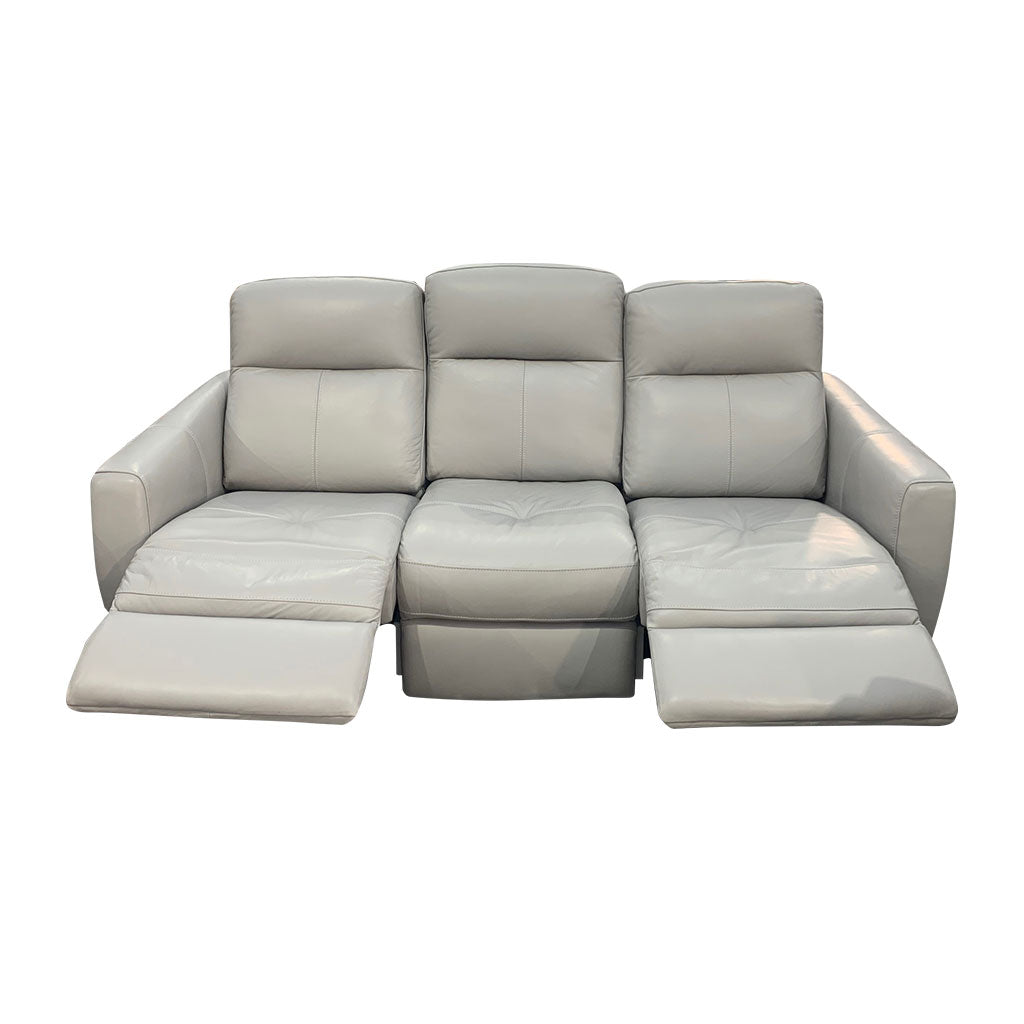 Genoa 3rere - light grey leather sofa
