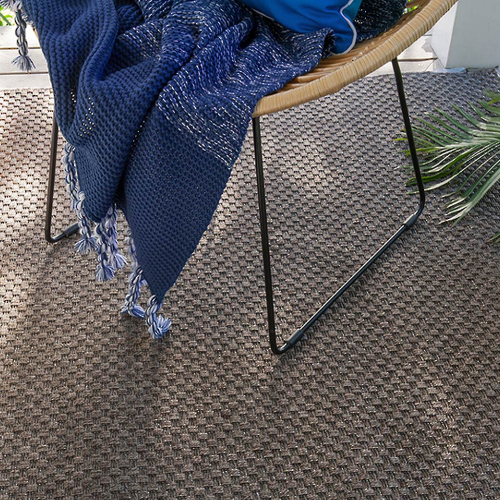 Indoor/Outdoor Rug - Flax (Polypropylene Heatset) - Pewter - 160x230cm