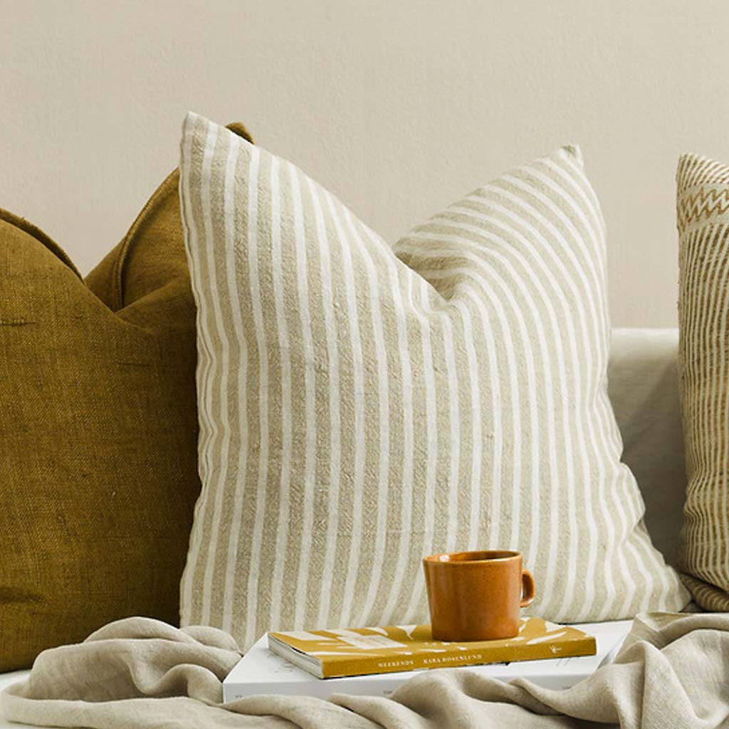 Cushion - Spencer With Feather Inner - Ivory/Natural