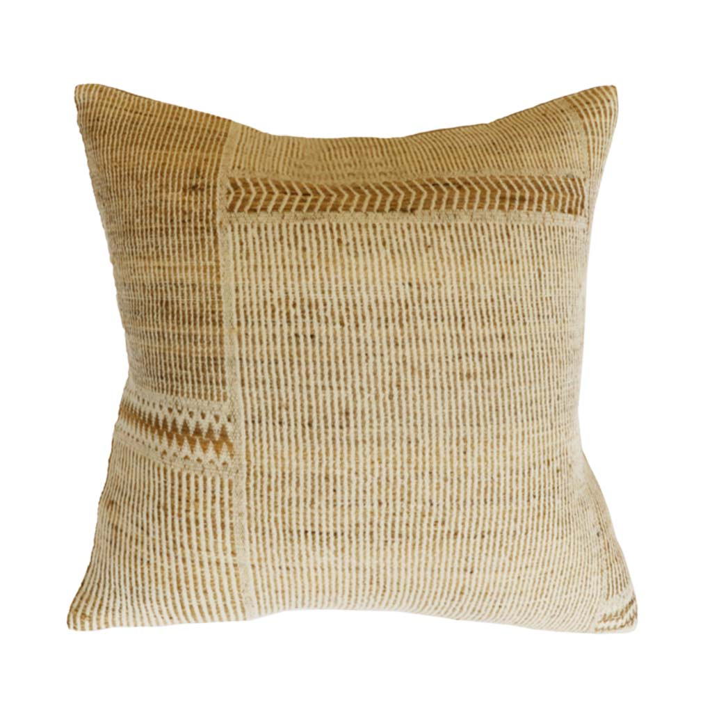 Cushion - Navajo With Feather Inner - Straw/Off White