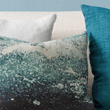 Cushion - Manly With Feather Inner - Teal Multi