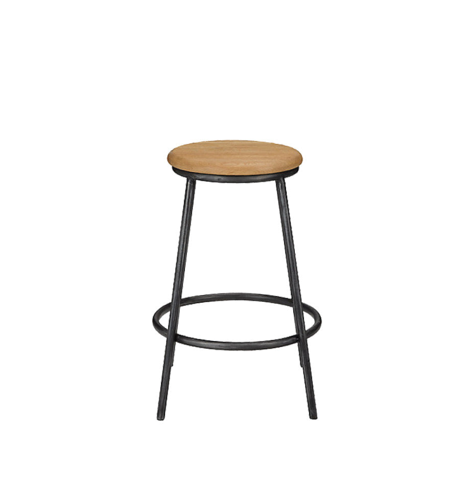 Calia Round Bar Stool - Oak