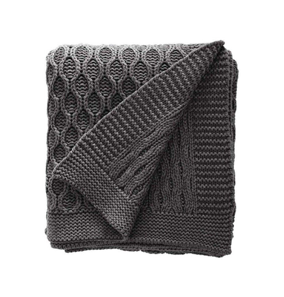 Annaliese Throw - Dark Grey