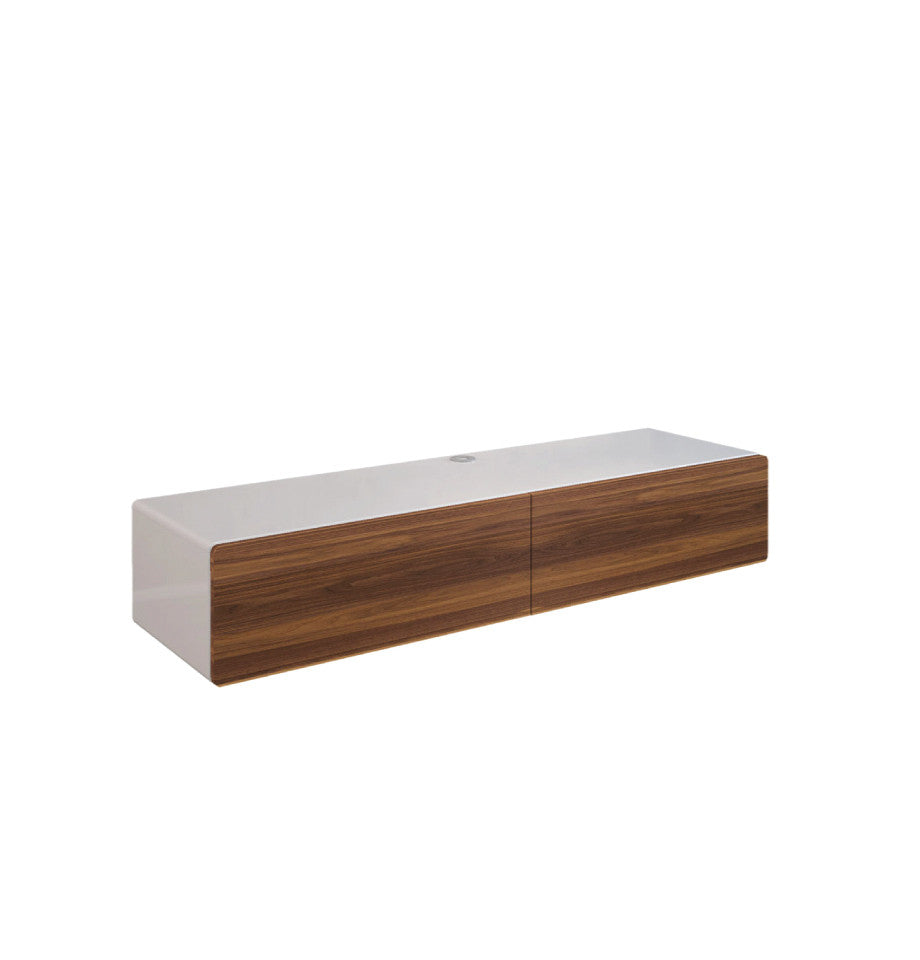 Bondi Floating Entertainment Unit 1660 - Walnut/High Gloss White