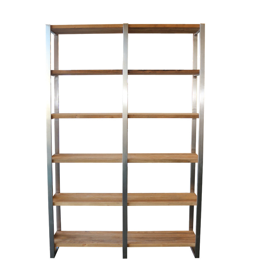 Marseille Outdoor Bookcase - Teak Timber & 316 Stainless - Orders Only