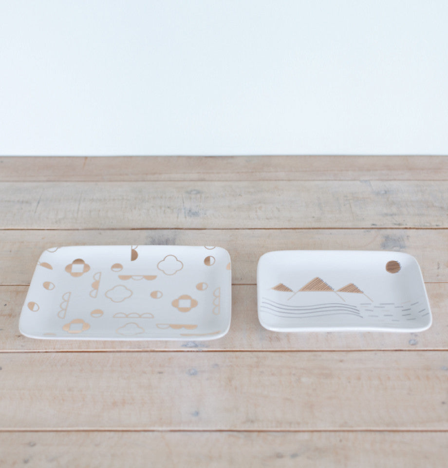 Alpine Tray Set - White/Gold