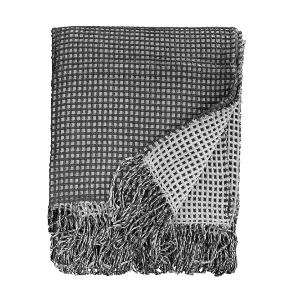 Estella Throw - Charcoal/Light Grey