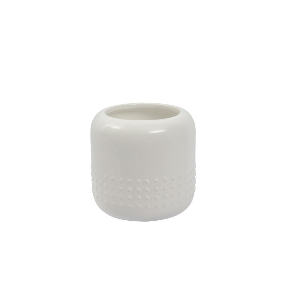 Karsten Dots Planter - Medium - White