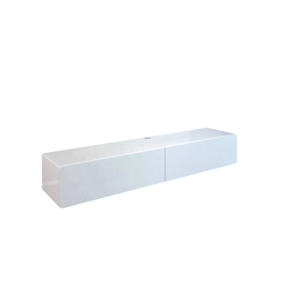 Bondi Floating Entetainment Unit 1660 - High Gloss White - Furnish