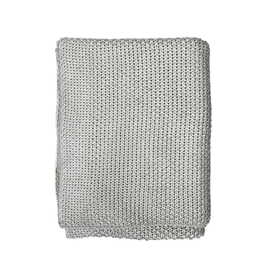 Broadway Throw - Silver Foil