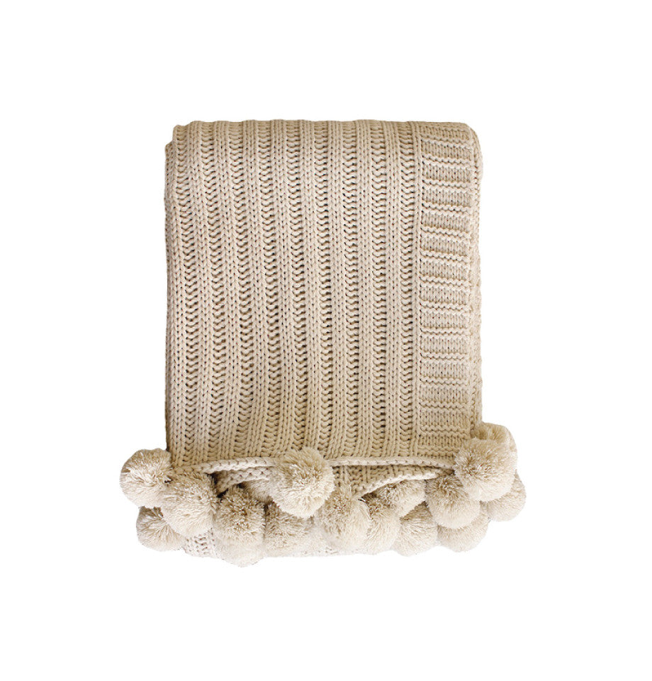 Arden Throw - Almond
