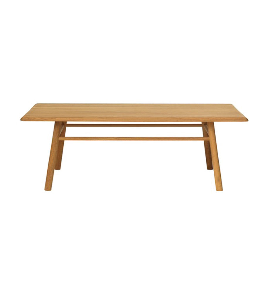 Capri Coffee Table 70x140cm - Solid European Oak - Natural Oil - Made in Europe - KD