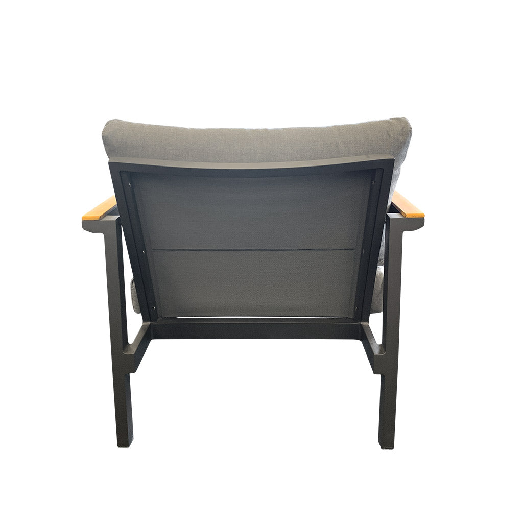 Copenhagen outdoor lounge chair - charcoal