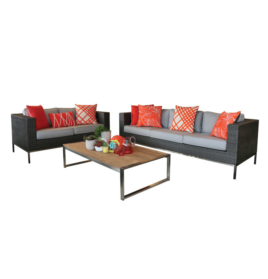 Avalon 2str Outdoor Sofa - Anthracite Black