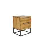 Calia Nightstand - Solid American White Oak Timber - Brushed w. Natural Oil