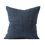 Citta Design - Heavy Linen Cushion With Feather Fill- Indigo