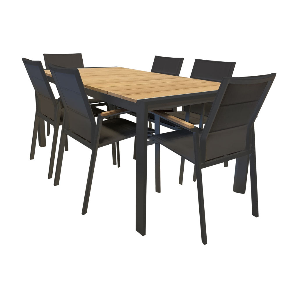 Copenhagen outdoor setting - table and 6 chairs