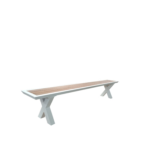 Bristol Twin Extension Table - High Gloss White  - 126/166/206cm x W.80cm H.75cm