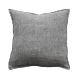 Cushion - Flaxmill With Feather Inner - Charcoal