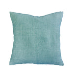 Indira cushion with feather inner - Dusty turquoise