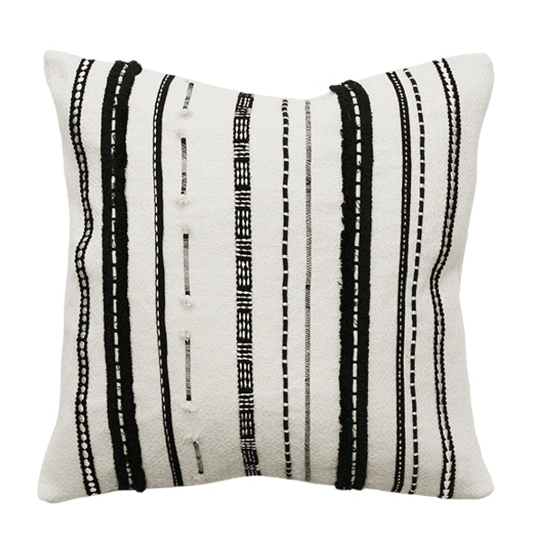 Cushion - Pulse With Feather Inner - Black/Cream