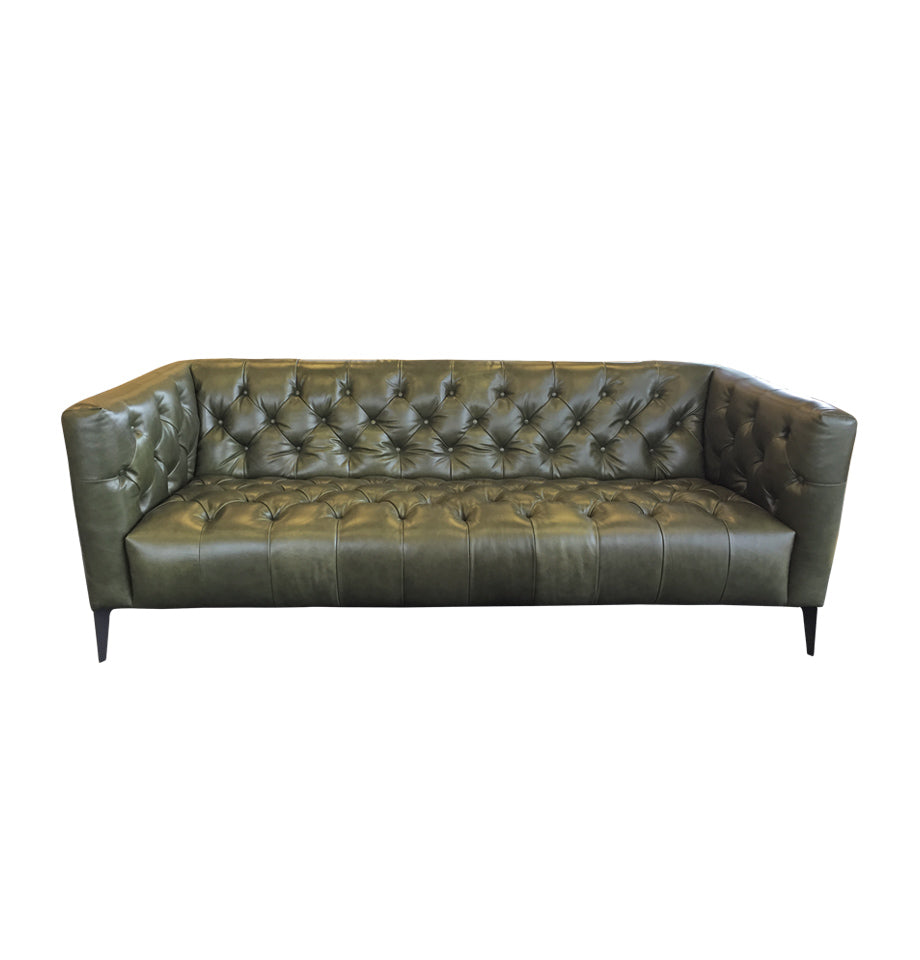 Eaton Sofa - New Galway Olive Leather