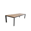 Grove Small Extension Outdoor Dining Table 160/220x100 - Charcoal Powdercoated Aluminum w. Teak Top