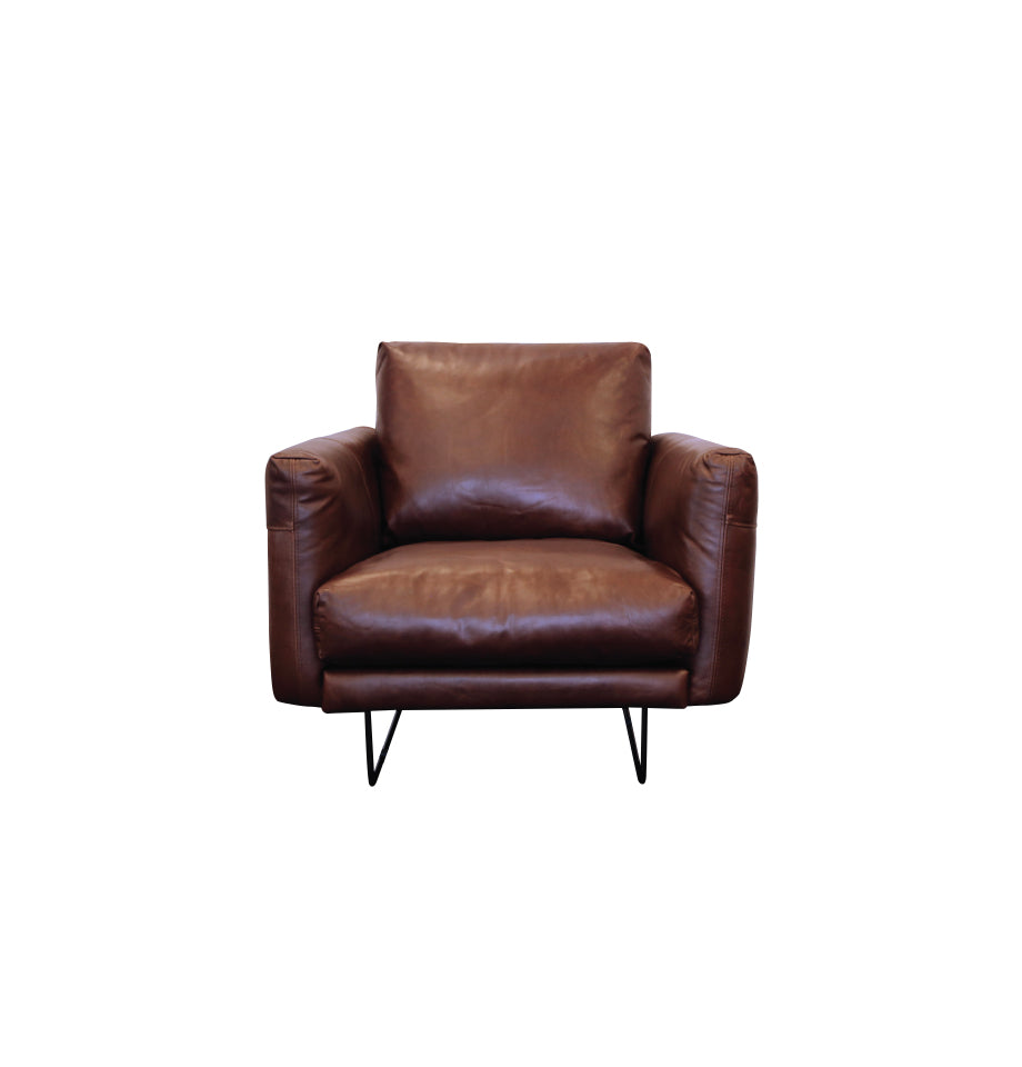 Gatsby Chair - New Galway Chocolate Brown Violino Leather