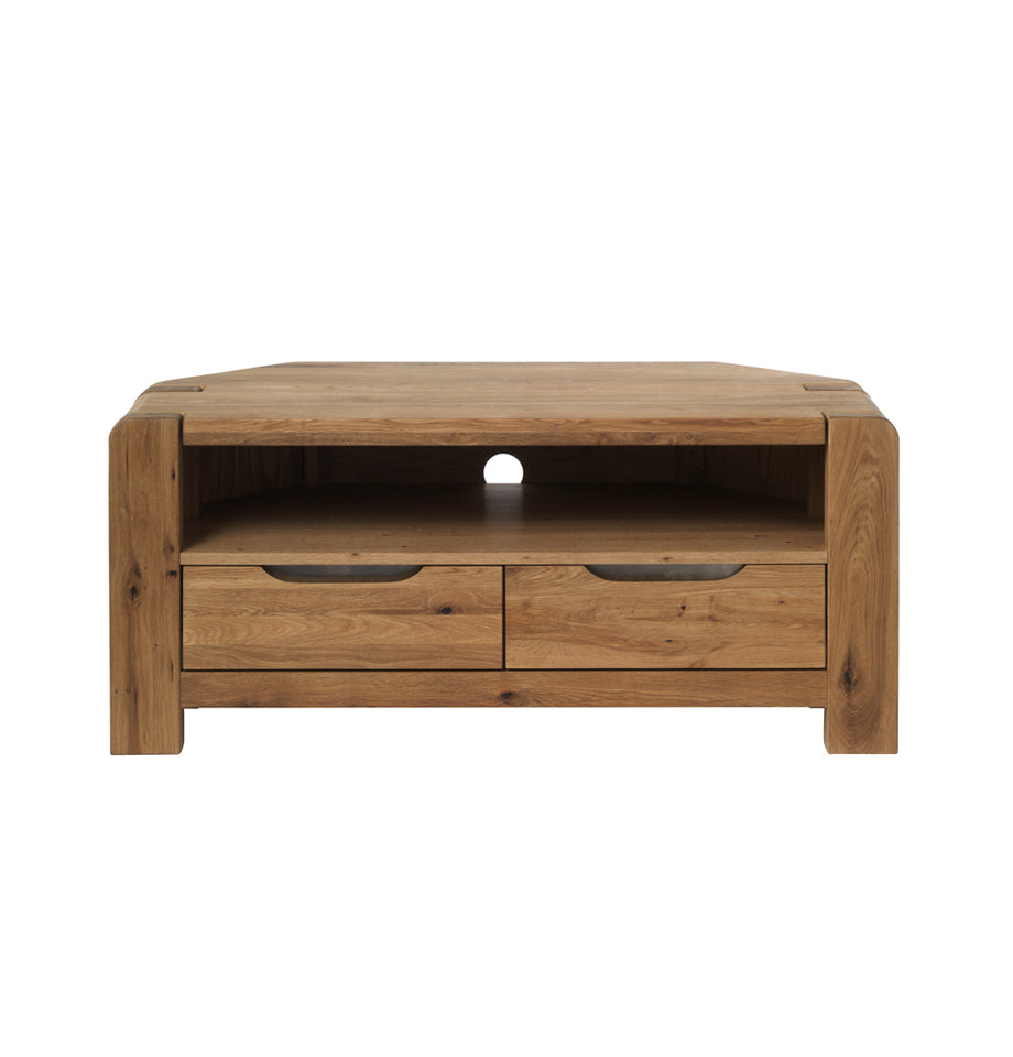 Imola Corner Tv Cabinet - Solid Wild Oak/Natural Oil