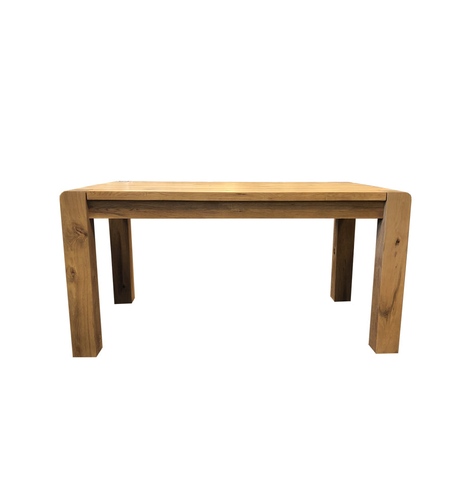 Imola small extendable dining table solid wild oak timber