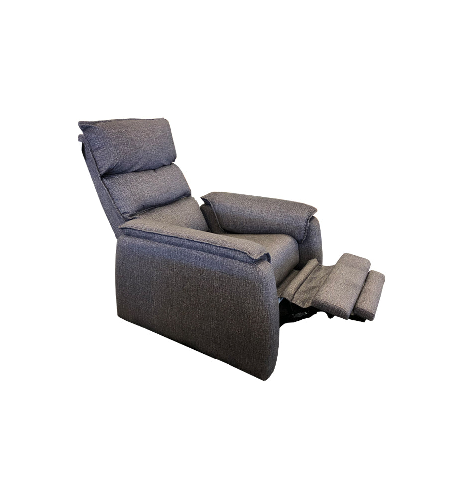 Jessie Recliner Chair - Mazza Charcoal Fabric
