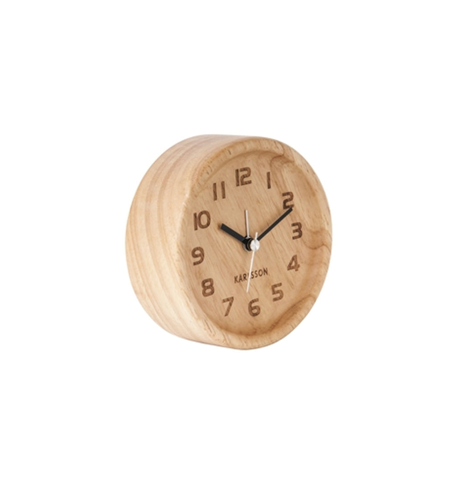 Karlsson Alarm Clock - Wood