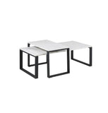 Katrine Coffee Table  Set - White Marble