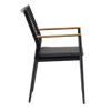 Kawau Outdoor Dining Chair - Charcoal Alu/Charcoal Seat - Sling Back