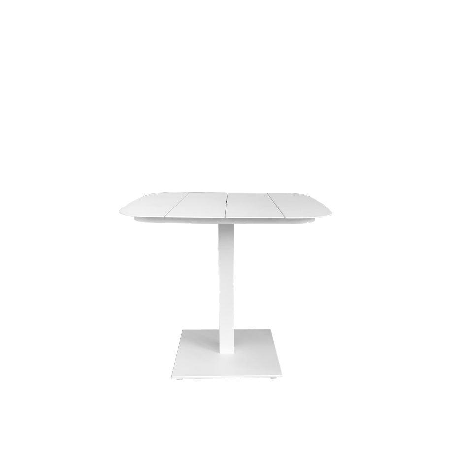 Latte Cafe Table 80x80 - White Powder Coated Aluminium