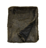 Limon Faux Fur Throw - Olive Mink