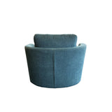 Manhattan Swivel Chair - Roma Sofa Fabric Istanbul, Colour Teal