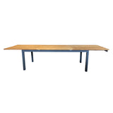 Marseille Outdoor Extension Table - 3400/2200x1000 - Teak/Charcoal P/Coated 304 S/Steel