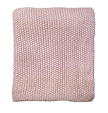 Throw - Milford Moss Stitch - Dusky Pink