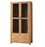 Modena China Display Cabinet - Oak
