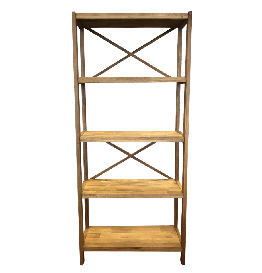 Modena 5 Shelf Unit - Oak/Oak Veneer