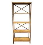 Modena 5 Shelf Unit - Oak/Oak Veneer - 34130600 - Requires Assembly