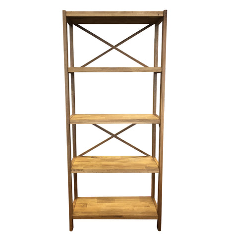 Modena 3 Shelf Unit - Oak/Oak Veneer - 34110600 - Requires Assembly