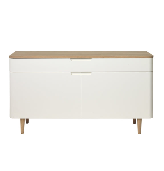 New Amalfi Sideboard - Oiled Oak & Oak veneer