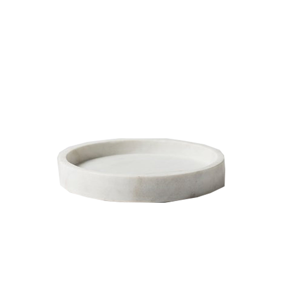 Citta Design Round Marble Tray - White - Large